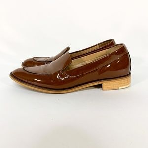 EVERLANE The Modern Loafer Patent Brown Leather
